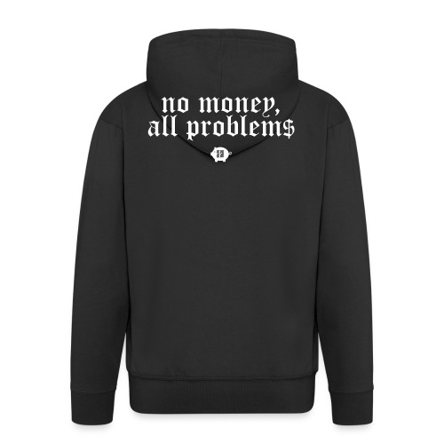 no money - Miesten premium vetoketjullinen huppari