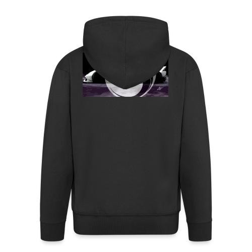 lion black lyon design - Men's Premium Hooded Jacket