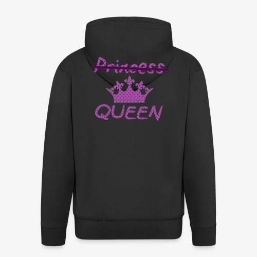 Not a princess but a QUEEN - Mannenjack Premium met capuchon