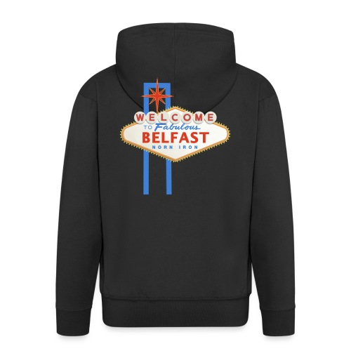 Belfast - Vegas sign - Men's Premium Hooded Jacket