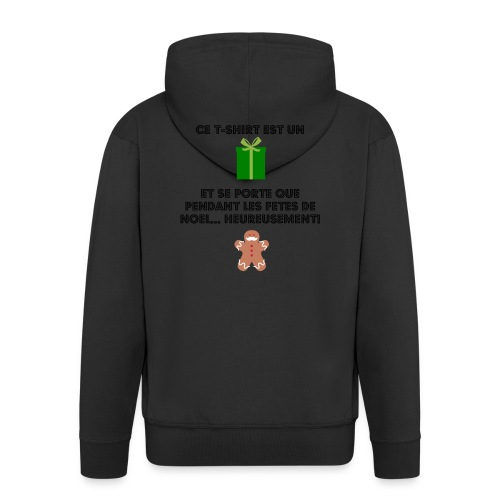T-shirt cadeau de Noël - Veste à capuche Premium Homme