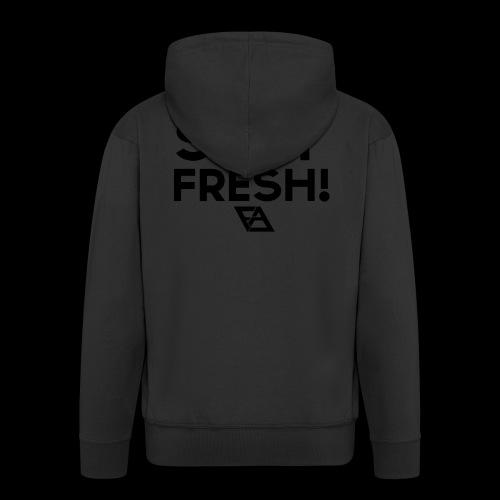 STAY FRESH! T-paita - Miesten premium vetoketjullinen huppari