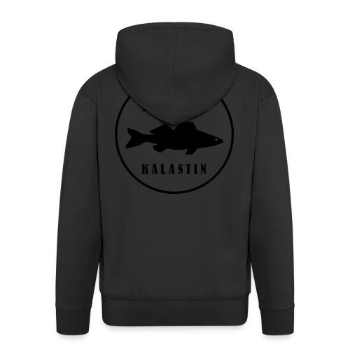 Kuhan kalastin - Miesten premium vetoketjullinen huppari