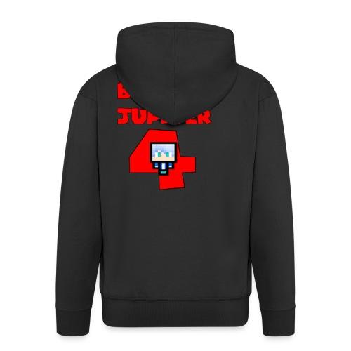 Maglietta premium text BoringJupiter4 - Felpa con zip Premium da uomo