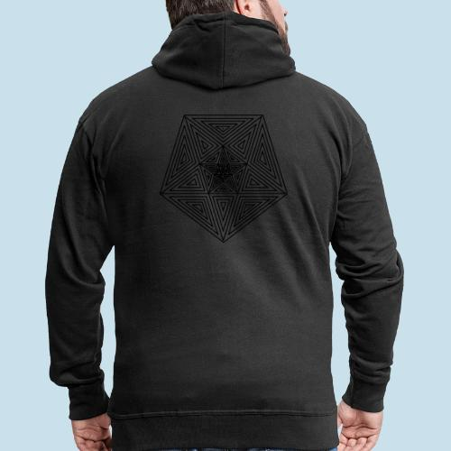 Pentagramm einfach - Männer Premium Kapuzenjacke