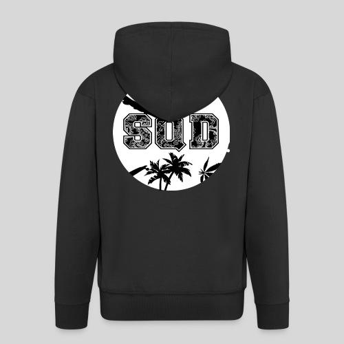 SQD tshirt logo wit - Mannenjack Premium met capuchon