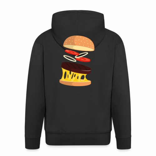 Hamburger Men - Men's Premium Hooded Jacket