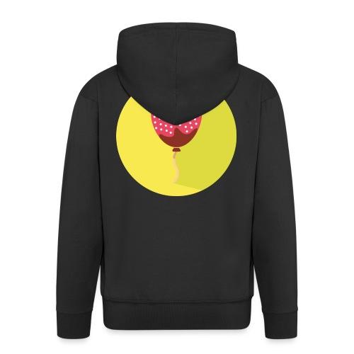 Palloncino // Strawberry - Felpa con zip Premium da uomo