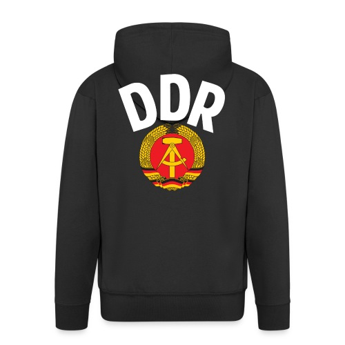 DDR - German Democratic Republic - Est Germany - Men's Premium Hooded Jacket