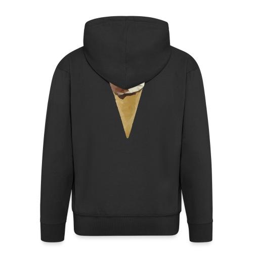 Low-poly_Ice_Cream - Mannenjack Premium met capuchon