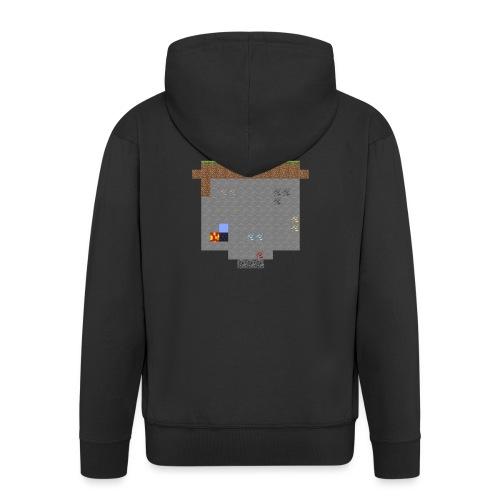 Minecraft World Querschnitt - Männer Premium Kapuzenjacke