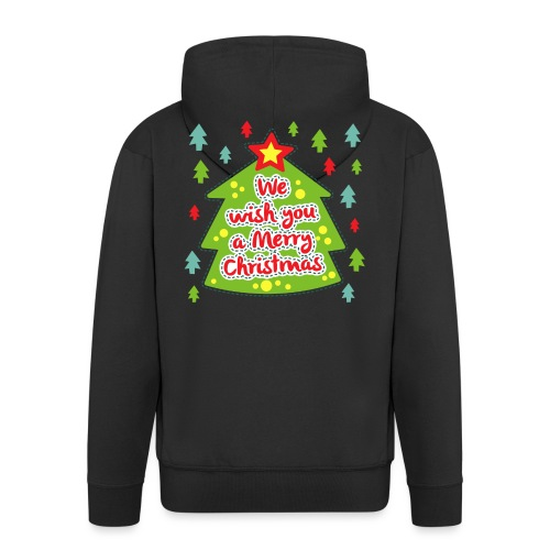 We wish you a Merry Christmas - Men's Premium Hooded Jacket