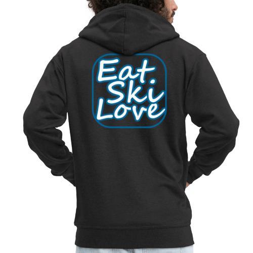 eat ski love - Mannenjack Premium met capuchon