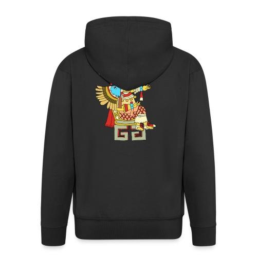 Xochiquetzal Aztec Aztekenmuster Hipster - Männer Premium Kapuzenjacke