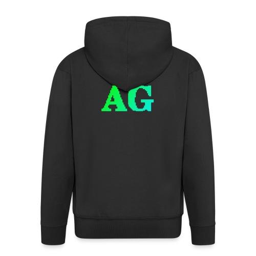 ATG Games logo - Miesten premium vetoketjullinen huppari
