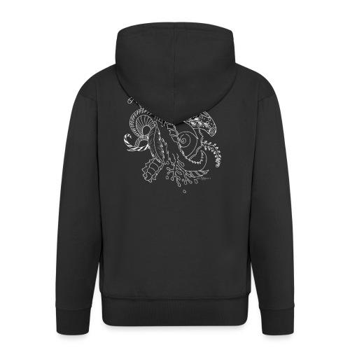 Fantasy white scribblesirii - Men's Premium Hooded Jacket