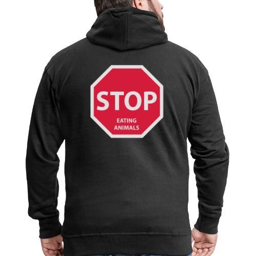 Stop-Eating-Animals - Männer Premium Kapuzenjacke