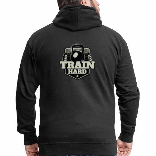 Train Hard - Männer Premium Kapuzenjacke