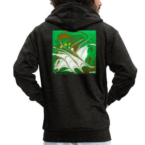 TIAN GREEN Mosaik CG002 - quaKI - Männer Premium Kapuzenjacke