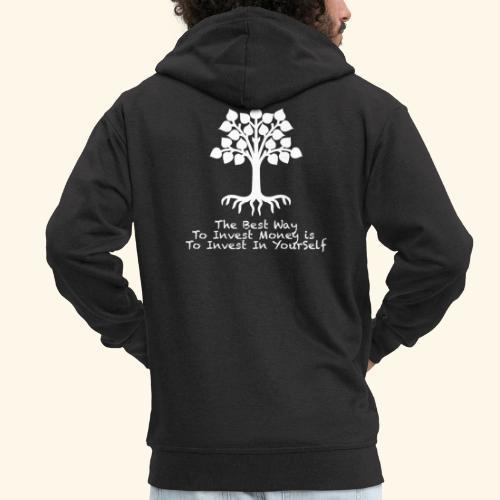 Printed T-Shirt Tree Best Way Invest Money - Felpa con zip Premium da uomo