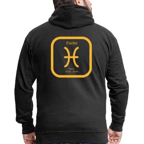 Horoskop Fische12 - Männer Premium Kapuzenjacke