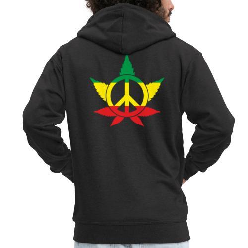 Peace färbig - Männer Premium Kapuzenjacke