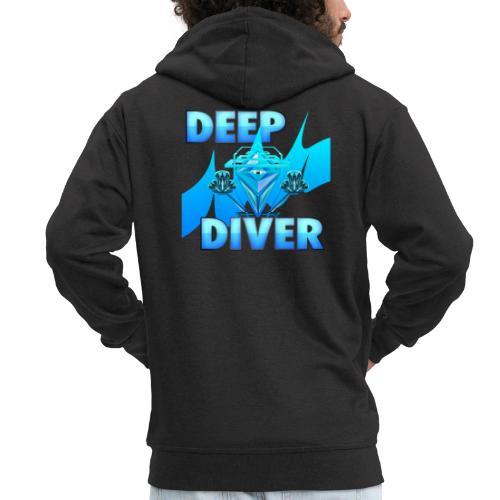 Deep Diver, Ocean Diamond. - Men's Premium Hooded Jacket