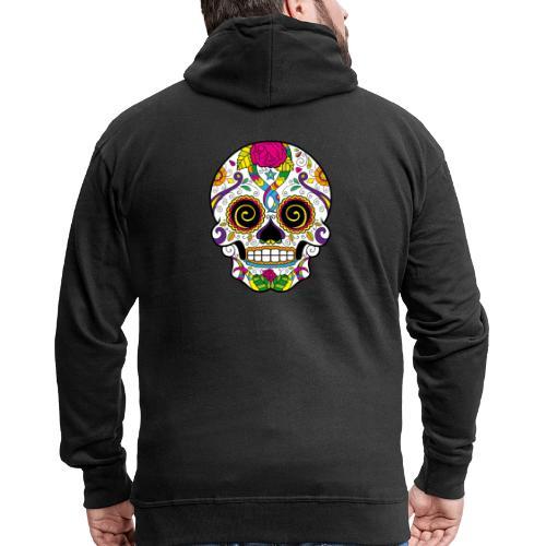 skull3 - Felpa con zip Premium da uomo