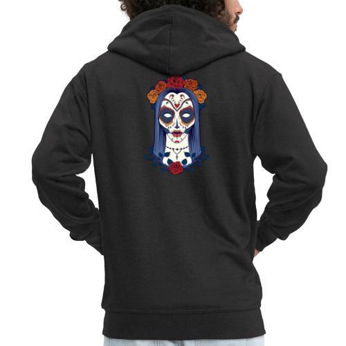 Skull 4 - Felpa con zip Premium da uomo