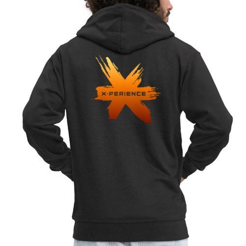 X-Perience Orange Logo - Männer Premium Kapuzenjacke