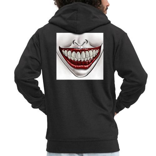 Smile Maske - Männer Premium Kapuzenjacke