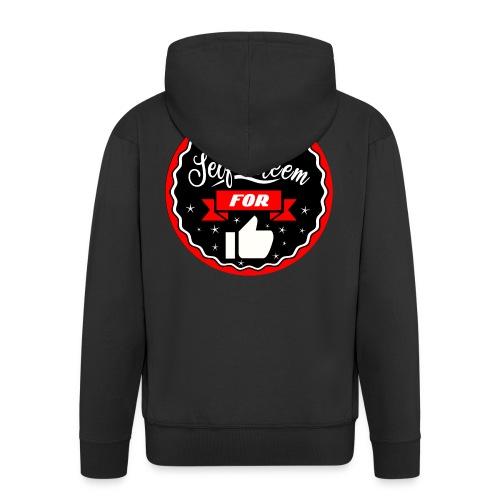 Swap self-esteem for likes (inches) - Men's Premium Hooded Jacket