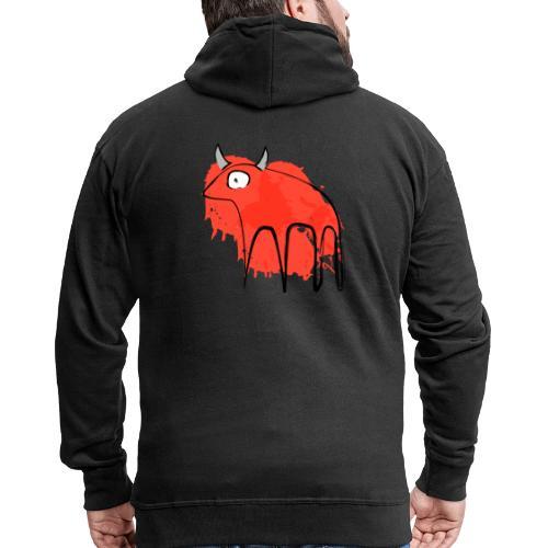tribal red cow - Felpa con zip Premium da uomo