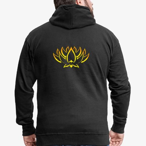 Lotus tribal Or - Veste à capuche Premium Homme