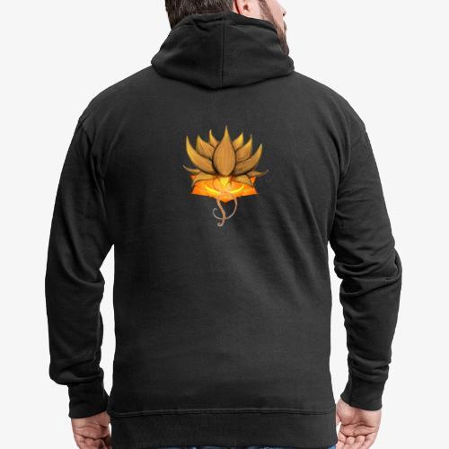 Lotus ventre chakra - Veste à capuche Premium Homme