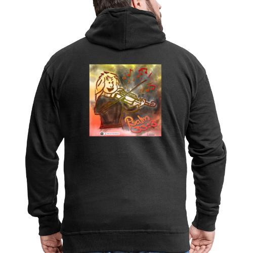 Design Geige Psalm 33 Vers 3 - auf Kleidung - Männer Premium Kapuzenjacke