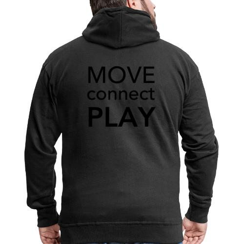 Move Connect Play - AcroYoga International - Men's Premium Hooded Jacket