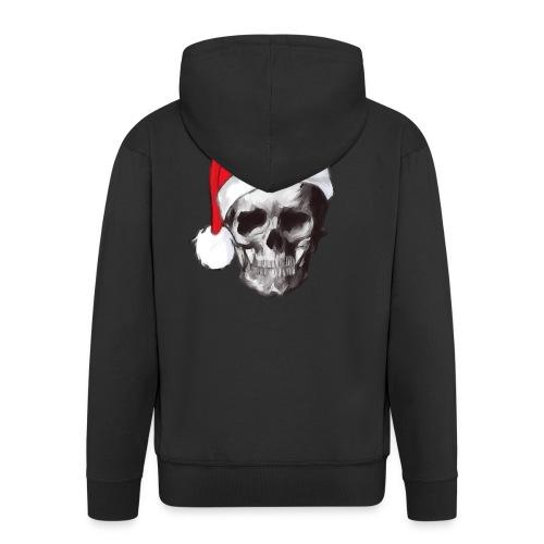 weihnachten-skull Weihnachtsmann - Männer Premium Kapuzenjacke