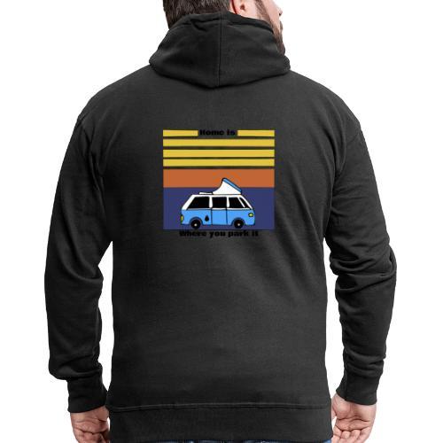 Van Life - Felpa con zip Premium da uomo