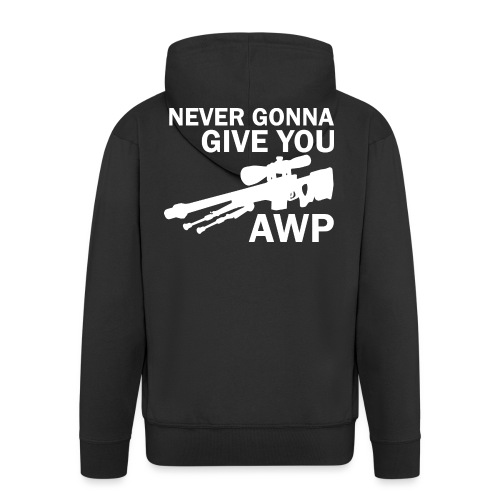 Never gonna give you AWP - Miesten premium vetoketjullinen huppari