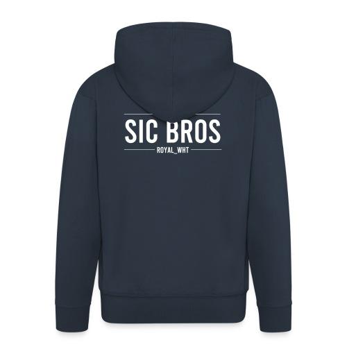 sicbros1 royal wht - Men's Premium Hooded Jacket