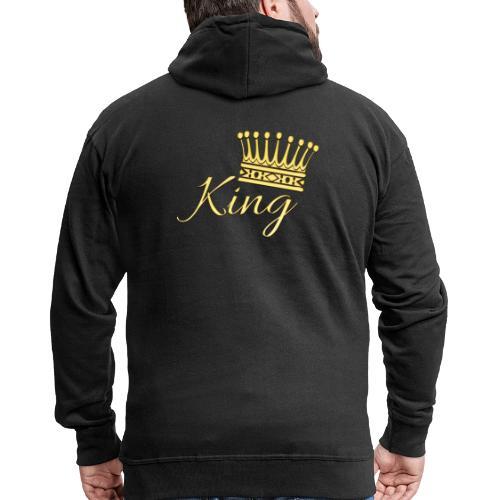 King Or by T-shirt chic et choc - Veste à capuche Premium Homme