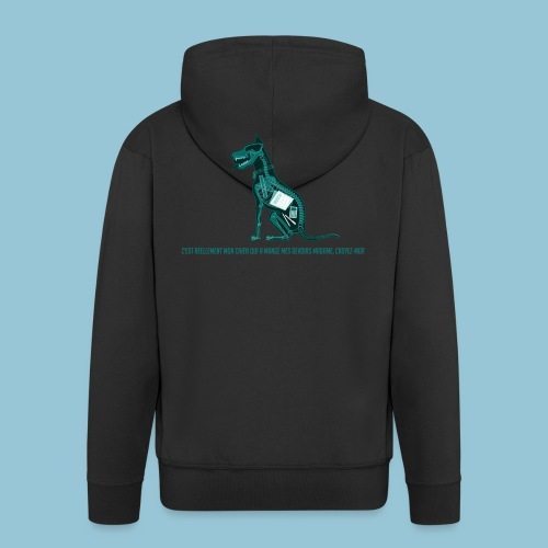T-shirt pour homme imprimé Chien au Rayon-X - Veste à capuche Premium Homme