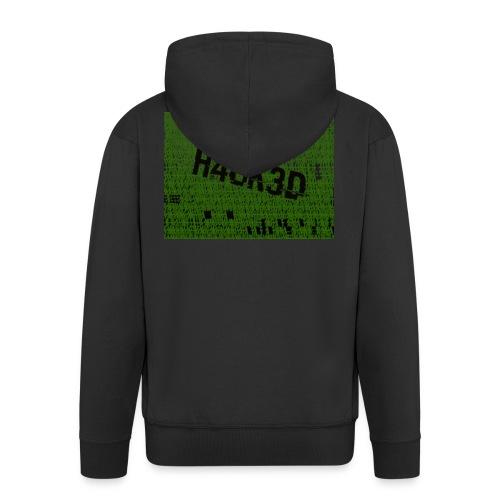 H4CK3D - Männer Premium Kapuzenjacke