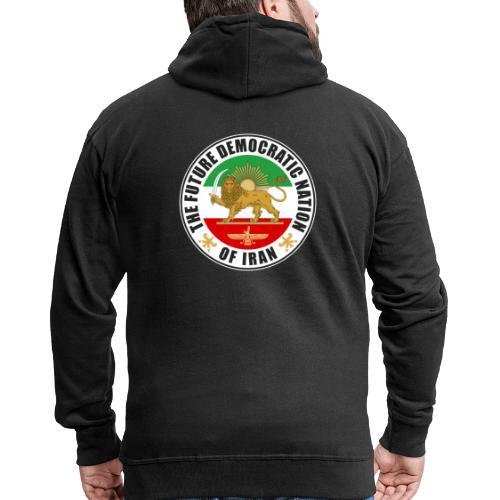Iran Emblem Old Flag With Lion - Men's Premium Hooded Jacket