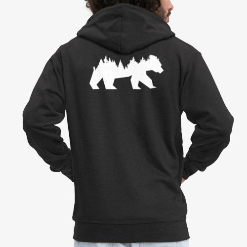 Bear Wald - Männer Premium Kapuzenjacke