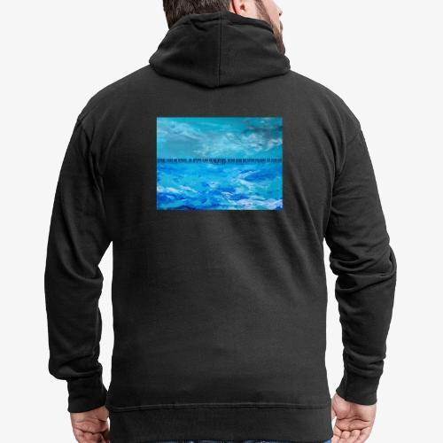 Atlantyda - Rozpinana bluza męska z kapturem Premium