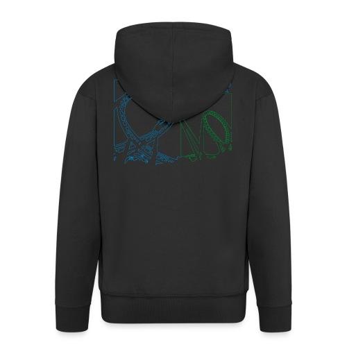 big_loop_coaster_shirt_line - Männer Premium Kapuzenjacke