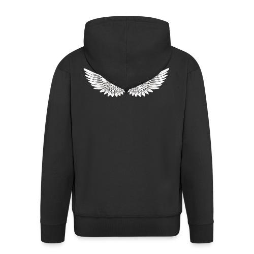 T SHIRT logo wit png png - Mannenjack Premium met capuchon