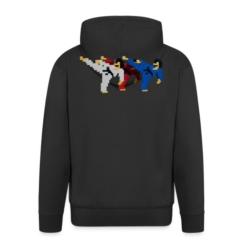8 bit trip ninjas 2 - Men's Premium Hooded Jacket